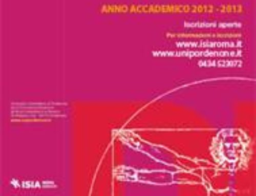 Aperte le preiscrizioni al Corso di Laurea in Disegno Industriale ISIA Roma Design – sede di Pordenone AA 2013-2014